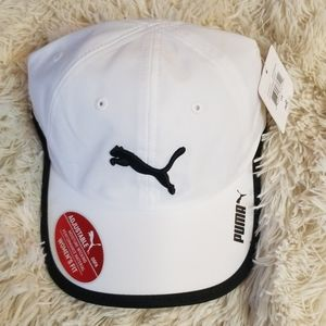 Women's puma hat white and black NWT